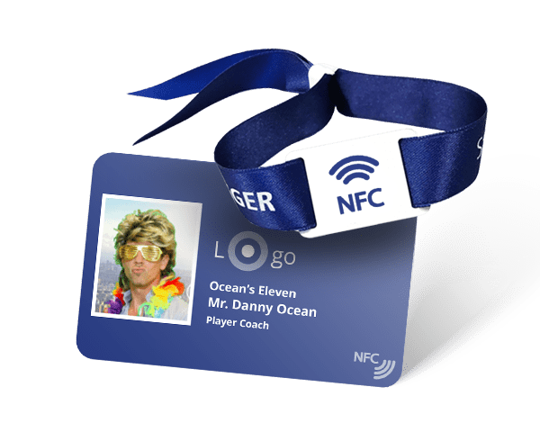 contactless badge and wristband